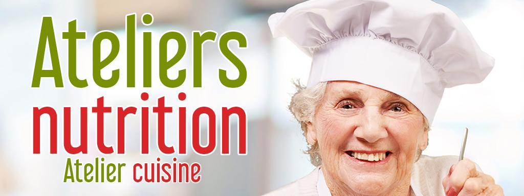 Atelier nutrition seniors : atelier cuisine
